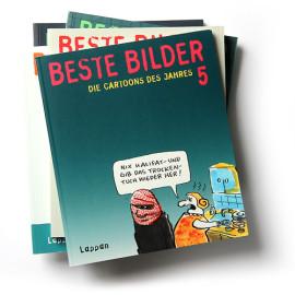 Die Cartoons des Jahres Der ultimative Jahresrückblick mit Cartoons von über 70 Zeichnern  Lappan 255 Seiten |softcover | je € 9,95